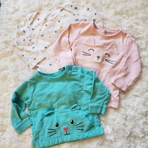 🌹Girls long sleeve tops 9-12 months